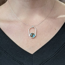 Load image into Gallery viewer, Turquoise Orange Peacock Arch Necklace