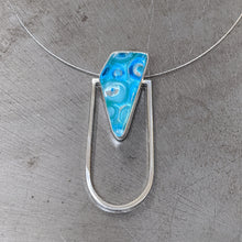 Load image into Gallery viewer, Turquoise Architectural Necklace