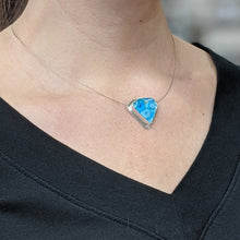 Load image into Gallery viewer, Turquoise Diamond Shape Architectural Necklace