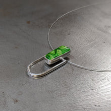 Load image into Gallery viewer, Green Architectural Necklace