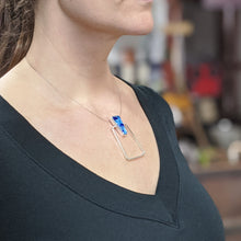 Load image into Gallery viewer, Aqua Cobalt Architectural Necklace