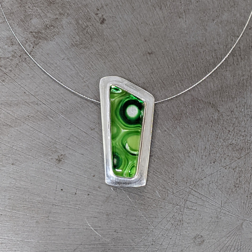 Green Architectural Necklace