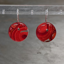 Load image into Gallery viewer, Lipstick Red Deep Red Murrini Earrings - Medium