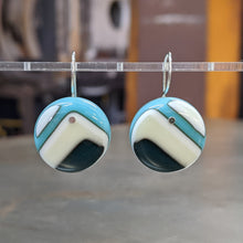 Load image into Gallery viewer, Vanilla Black Turquoise Earrings - Large
