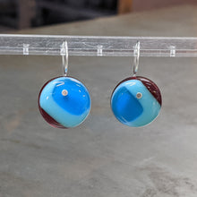 Load image into Gallery viewer, Turquoise Sea Blue Red Earrings - Medium