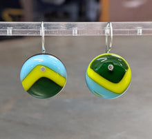 Load image into Gallery viewer, Emerald Lime Turquoise Earrings - Medium