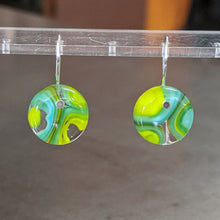 Load image into Gallery viewer, Turquoise Lemongrass Murrini Earrings - Small
