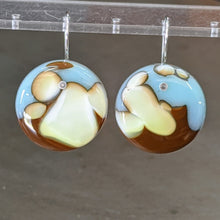 Load image into Gallery viewer, Robin's Egg Chocolate Vanilla Earrings - Large