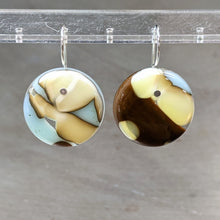 Load image into Gallery viewer, Chocolate Vanilla Robin's Egg Earrings - Large