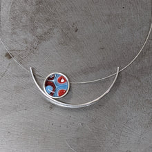 Load image into Gallery viewer, Light Blue Red Eclipse Necklace