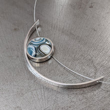 Load image into Gallery viewer, Slate Vanilla Eclipse Necklace