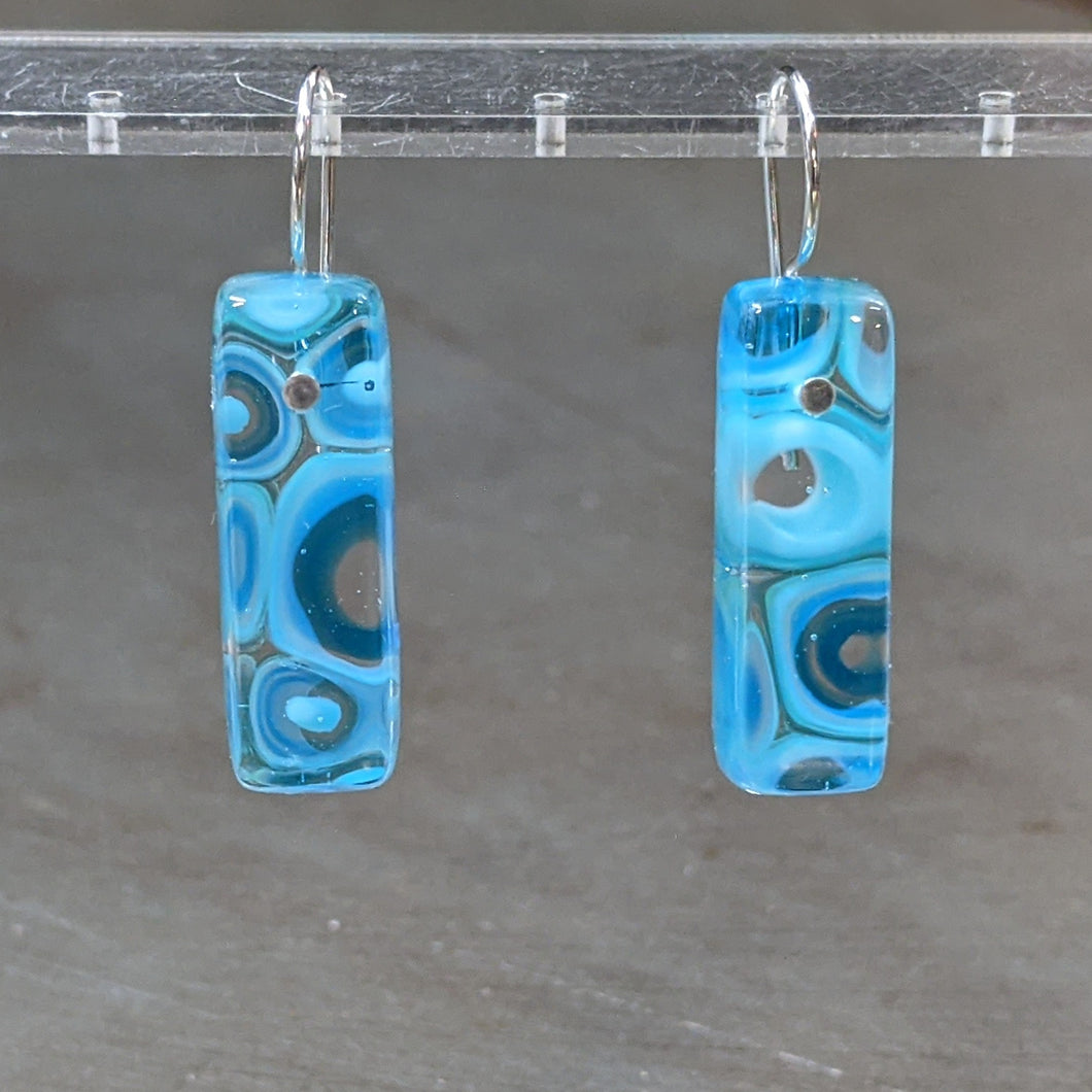 Turquoise Sea Blue Murrini Earrings