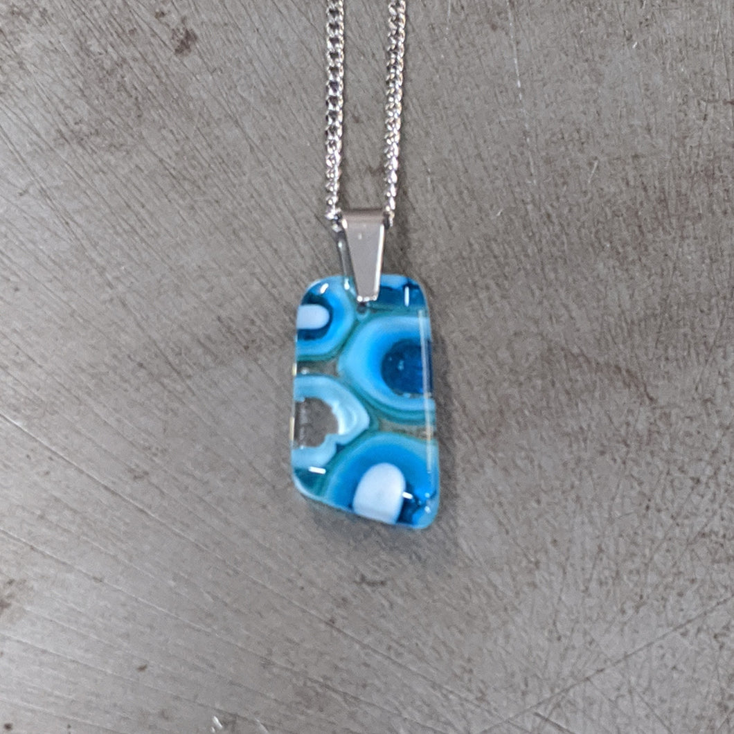 Turquoise Sea Blue Pendant Necklace
