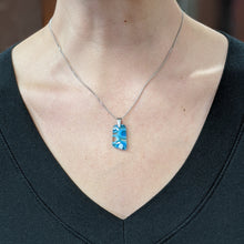Load image into Gallery viewer, Turquoise Sea Blue Pendant Necklace