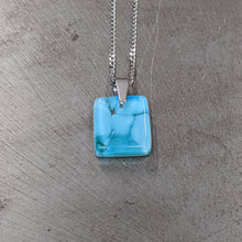 Load image into Gallery viewer, Lt Turquoise Dark Turquoise Pendant Necklace