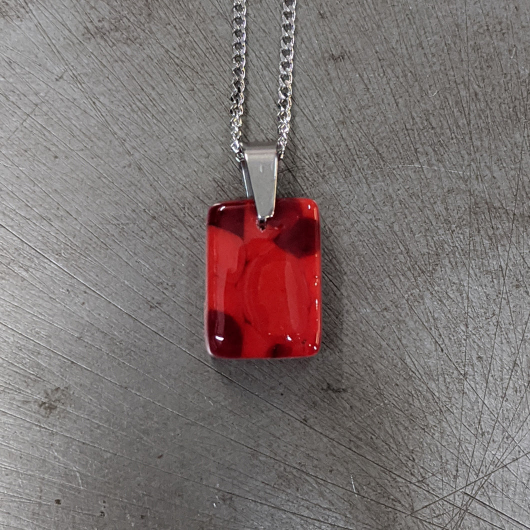 Lipstick Red Deep Red Pendant Necklace