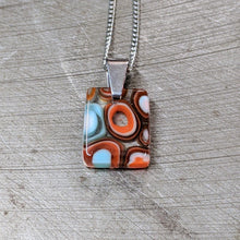 Load image into Gallery viewer, Orange Turquoise White Murrini Pendant Necklace