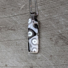 Load image into Gallery viewer, Black White Murrini Pendant Necklace