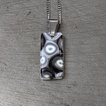 Load image into Gallery viewer, White Black Murrini Pendant Necklace