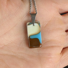 Load image into Gallery viewer, Vanilla Blue Chocolate Pendant Necklace