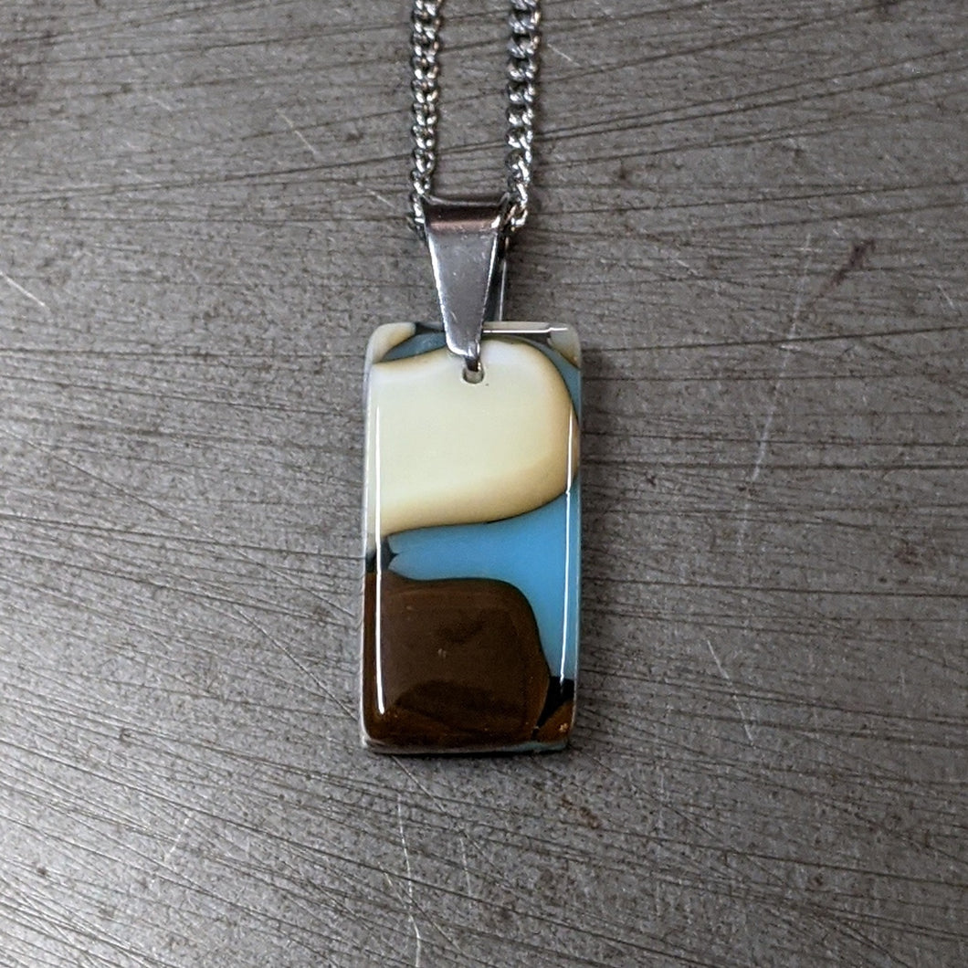 Vanilla Blue Chocolate Pendant Necklace