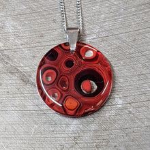 Load image into Gallery viewer, Red Murrini Glass Pendant Necklace