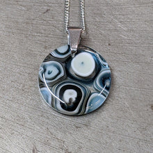 Load image into Gallery viewer, Slate Vanilla Murrini Glass Pendant Necklace