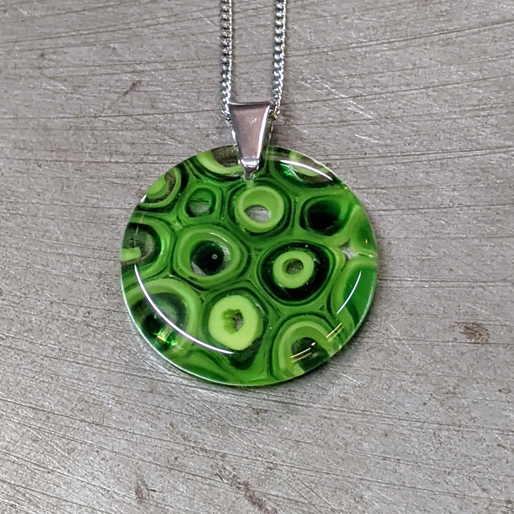 Green Murrini Glass Pendant Necklace