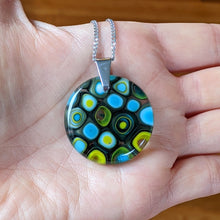 Load image into Gallery viewer, Lemongrass Chocolate Turquoise Pendant Necklace