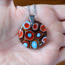 Load image into Gallery viewer, Orange Turquoise Pendant Necklace