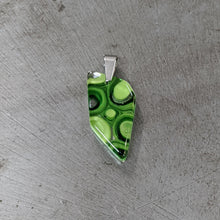 Load image into Gallery viewer, Green Murrini Glass Pendant