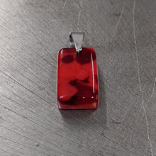 Load image into Gallery viewer, Red on Red Glass Pendant