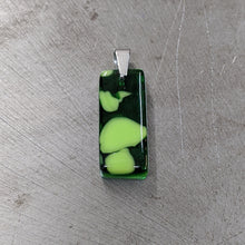 Load image into Gallery viewer, Green on Green Glass Pendant