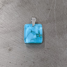 Load image into Gallery viewer, Turquoise Glass Pendant