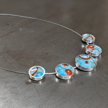 Load image into Gallery viewer, Turquoise Orange Statement Necklace