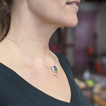 Load image into Gallery viewer, Emerald Aqua Pendant Necklace
