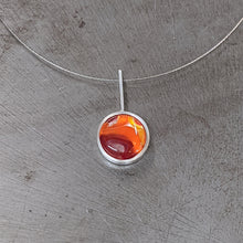 Load image into Gallery viewer, Red Orange Silver Pendant
