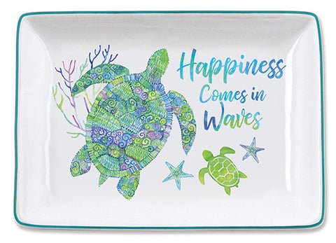 Happiness Comes in Waves Trinket Tray