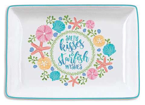 Salty Kisses and Starfish Wishes Trinket Tray