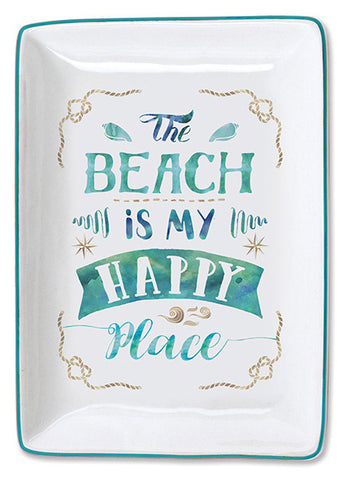 The Beach is My Happy Place Trinket Tray