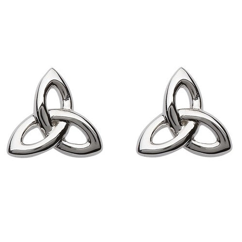 Silver Trinity Knot Stud Earrings