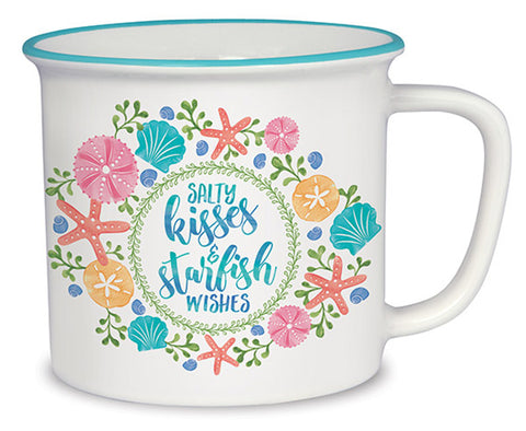Salty Kisses & Starfish Wishes Cottage Mug