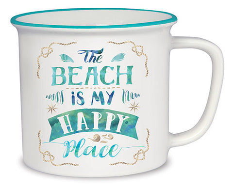 The Beach is My Happy Place Cottage Mug