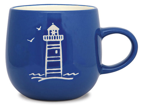 Lighthouse Batik Mug