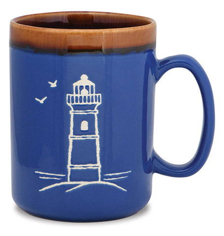Lighthouse Hand Glazed Mug