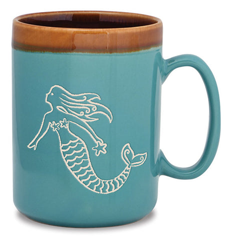 Mermaid Hand Glazed Mug