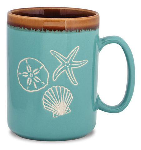 Sea Shell Hand Glazed Mug