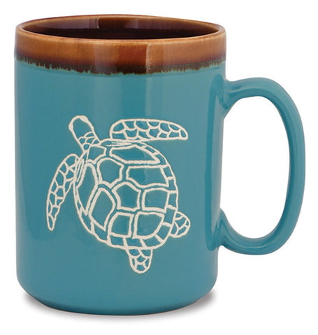 Sea Turtle Hand Glazed Mug