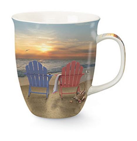 Adirondack Chairs on the Beach Mug