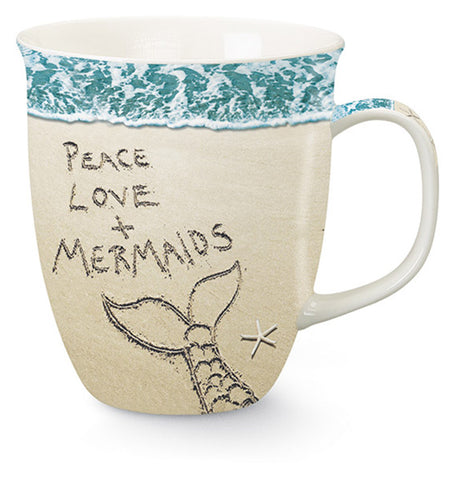 Peace, Love, & Mermaids Mug